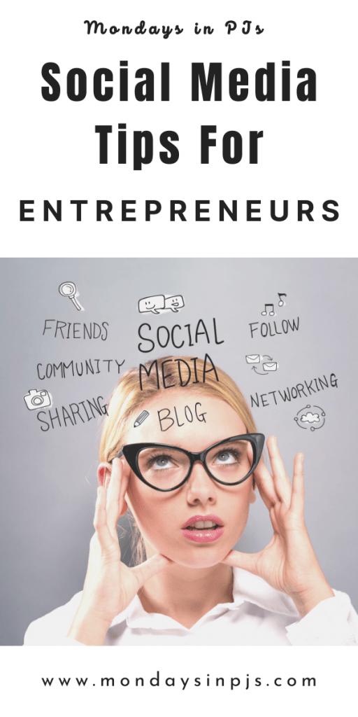 social media tips for entrepreneurs, Mondays in PJs pin